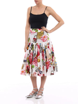 Dolce & Gabbana: Knee length skirts & Midi online - Printed cotton circle skirt