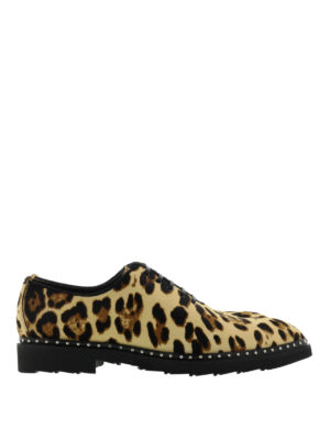 Dolce & Gabbana: lace-ups shoes - Animal printed leather shoes