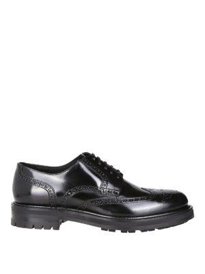 DOLCE & GABBANA: scarpe stringate - Derby brogue in pelle di vitello spazzolato