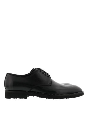 Dolce & Gabbana: lace-ups shoes - Brushed leather lace-up shoes