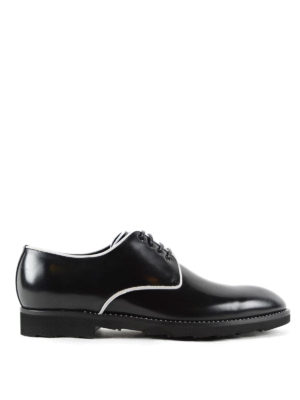 Dolce & Gabbana: lace-ups shoes - Contrasting piping derby shoes