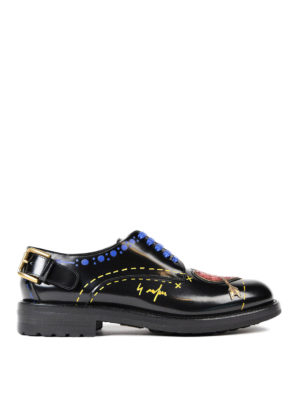 Dolce & Gabbana: lace-ups shoes - Heart patches leather Derby shoes