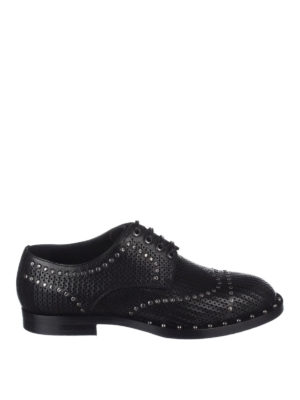 Dolce & Gabbana: lace-ups shoes - Marsala leather derby shoes