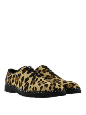 Dolce & Gabbana: lace-ups shoes online - Animal printed leather shoes