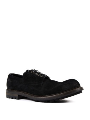 Dolce & Gabbana: lace-ups shoes online - Black suede low top lace-ups