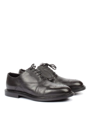 Dolce & Gabbana: lace-ups shoes online - Brogue toe leather Oxford shoes