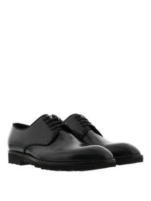 Dolce & Gabbana: lace-ups shoes online - Brushed leather lace-up shoes