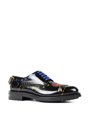 Dolce & Gabbana: lace-ups shoes online - Heart patches leather Derby shoes