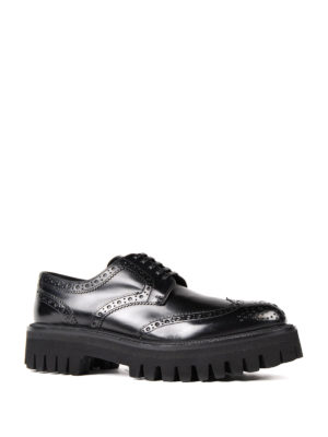 Dolce & Gabbana: lace-ups shoes online - Maxi sole leather Derby brogues