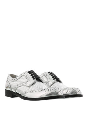 Dolce & Gabbana: lace-ups shoes online - Mirrored leather Derby shoes
