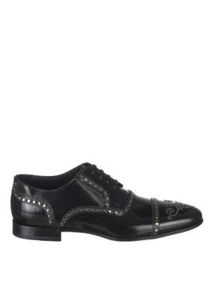 DOLCE & GABBANA: scarpe stringate - Stringate Derby con borchie