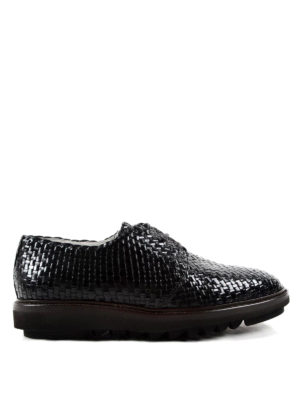 Dolce & Gabbana: lace-ups shoes - Weave leather Derby shoes