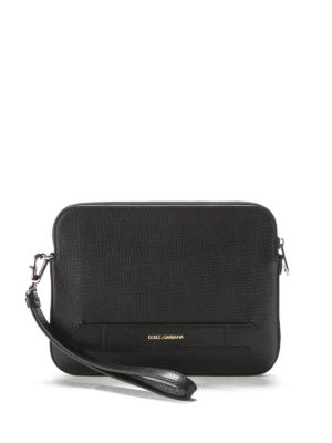 Dolce & Gabbana: laptop bags & briefcases - Leather hand pouch