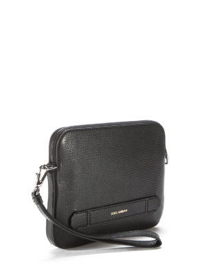 Dolce & Gabbana: laptop bags & briefcases online - Leather hand pouch