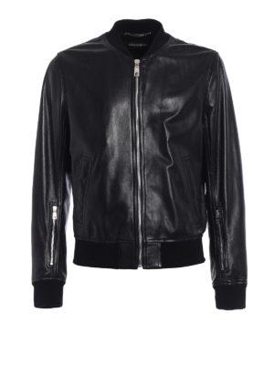 Dolce & Gabbana: leather jacket - Soft lambskin classic bomber