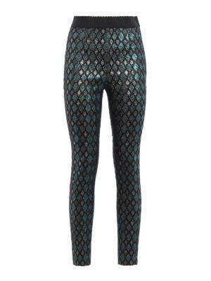 Dolce & Gabbana: leggings - Iridescent jacquard cigarette pants