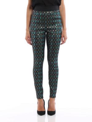 Dolce & Gabbana: leggings online - Iridescent jacquard cigarette pants