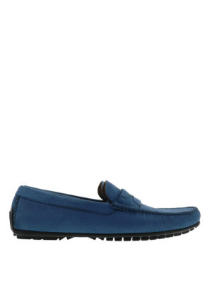 Dolce & Gabbana: Loafers & Slippers - Hammered leather loafers