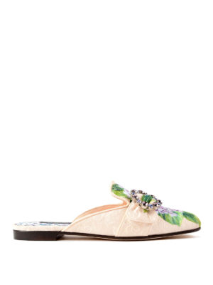 Dolce & Gabbana: Loafers & Slippers - Jackie jewel brocade slippers