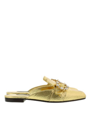Dolce & Gabbana: Loafers & Slippers - Jewel buckle slippers