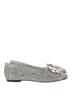 Dolce & Gabbana: Loafers & Slippers - Jewel lace slippers