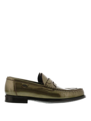 Dolce & Gabbana: Loafers & Slippers - Metallic patent leather loafers