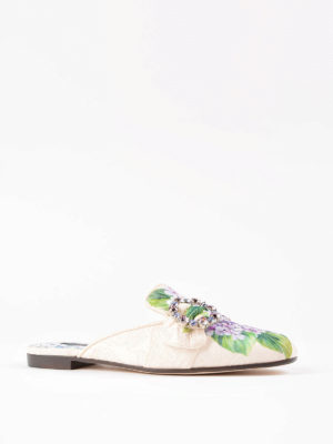 Dolce & Gabbana: Loafers & Slippers online - Jackie jewel brocade slippers