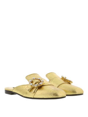 Dolce & Gabbana: Loafers & Slippers online - Jewel buckle slippers