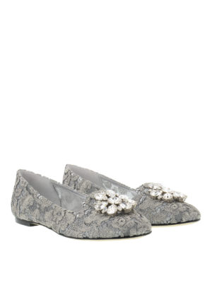 Dolce & Gabbana: Loafers & Slippers online - Jewel lace slippers