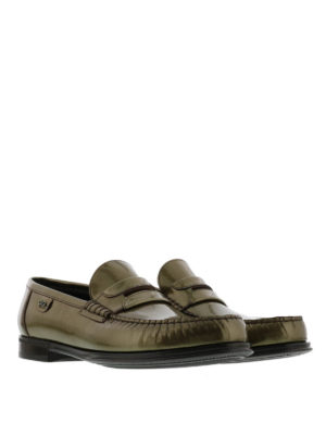 Dolce & Gabbana: Loafers & Slippers online - Metallic patent leather loafers