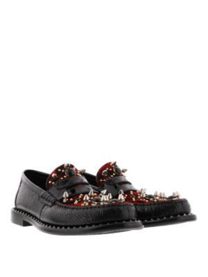 Dolce & Gabbana: Loafers & Slippers online - Patent and pony hair loafers