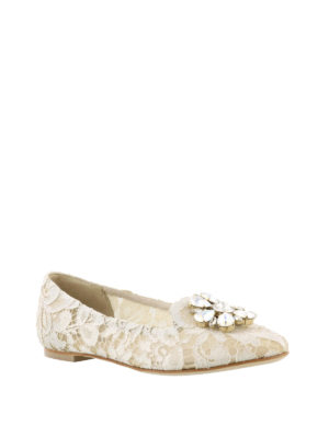Dolce & Gabbana: Loafers & Slippers online - Vally ice lace jewel slippers