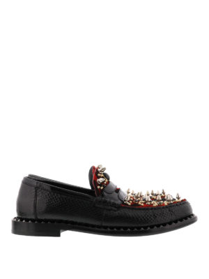 Dolce & Gabbana: Loafers & Slippers - Patent and pony hair loafers