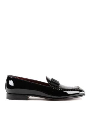 DOLCE & GABBANA: Mocassini e slippers - Pantofola in vernice con borchiette