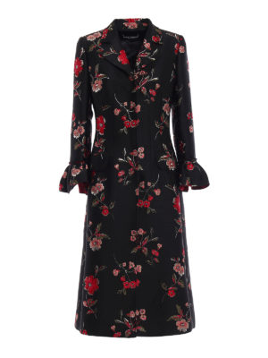 Dolce & Gabbana: long coats - Jacquard embroidered coat