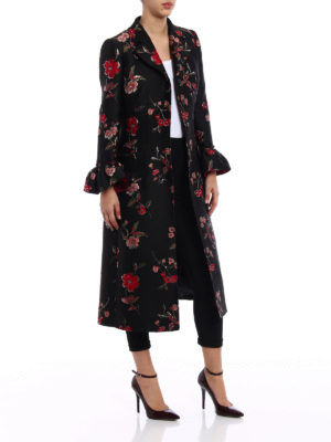 Dolce & Gabbana: long coats online - Jacquard embroidered coat