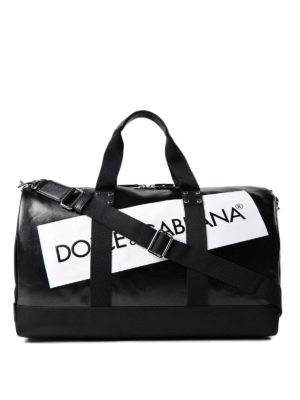 Dolce & Gabbana: Luggage & Travel bags - Boston logo detailed duffle bag