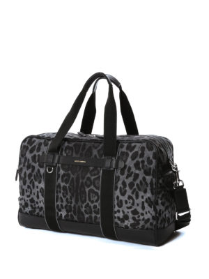 Dolce & Gabbana: Luggage & Travel bags online - Leo print nylon duffel bag