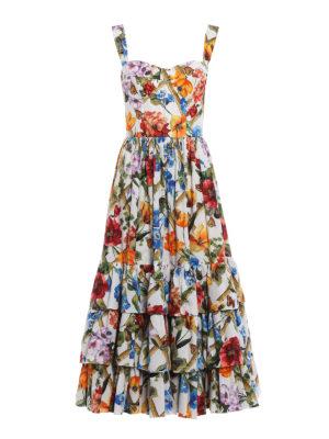 Dolce & Gabbana: maxi dresses - Flower print cotton poplin sundress