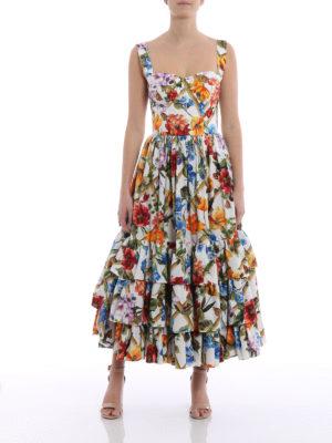 Dolce & Gabbana: maxi dresses online - Flower print cotton poplin sundress