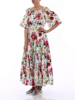 Dolce & Gabbana: maxi dresses online - Roses print cotton maxi dress