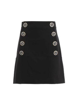 Dolce & Gabbana: mini skirts - Jewel buttons A-line skirt