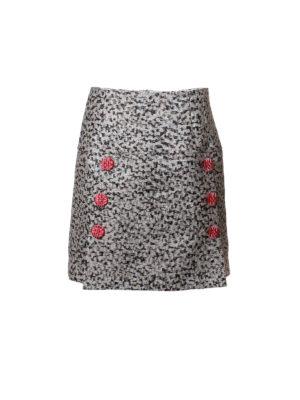 Dolce & Gabbana: mini skirts - Laminate jacquard mini skirt