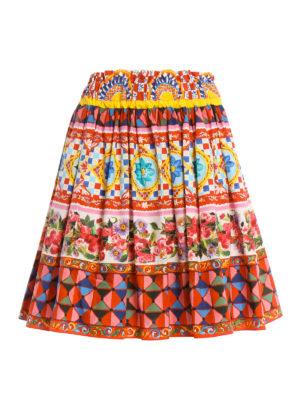 Dolce & Gabbana: mini skirts - Mambo print cotton circle skirt