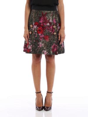 Dolce & Gabbana: mini skirts online - Floral lurex jacquard A-line skirt