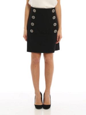 Dolce & Gabbana: mini skirts online - Jewel buttons A-line skirt