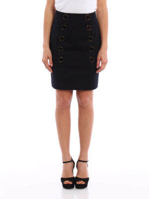 Dolce & Gabbana: mini skirts online - Jewelled button mini skirt