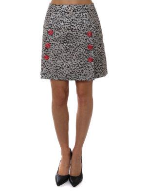 Dolce & Gabbana: mini skirts online - Laminate jacquard mini skirt