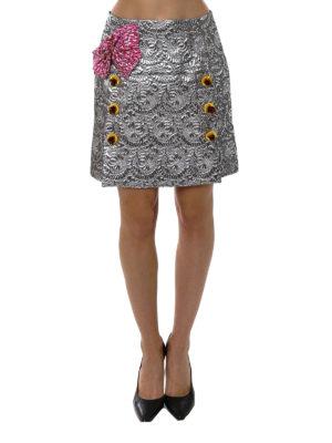Dolce & Gabbana: mini skirts online - Lurex bow jacquard mini skirt