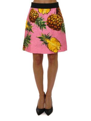 Dolce & Gabbana: mini skirts online - Pineapple print brocade mini skirt